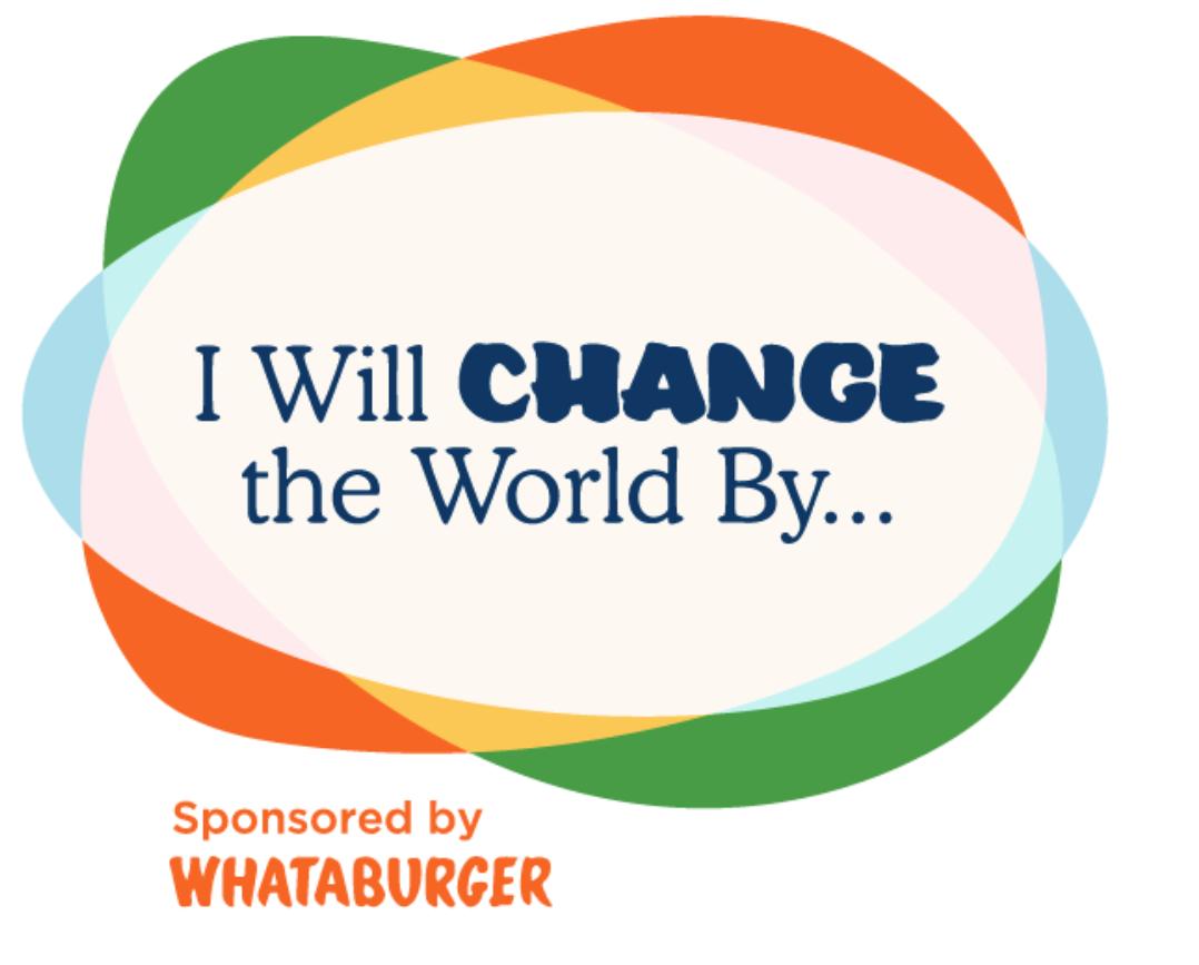 I will change the world logo